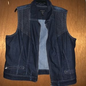 Ashley Stewart Denim Vest